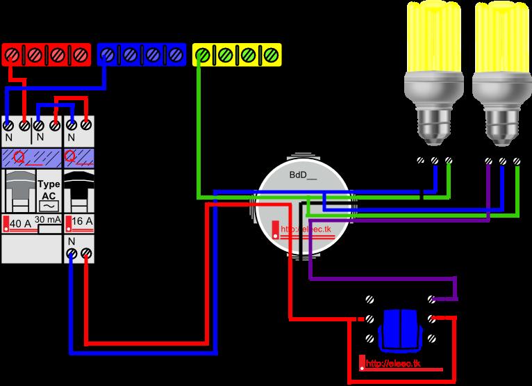schema electrique interrupteur simple allumage. Black Bedroom Furniture Sets. Home Design Ideas