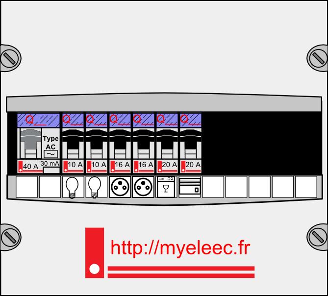 2012 - LEGRAND Tableau pré-équipé 1 rangée pour rénovation