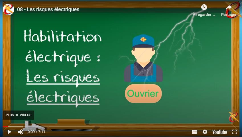 Les risques électriques ou «Paf t'es mort»