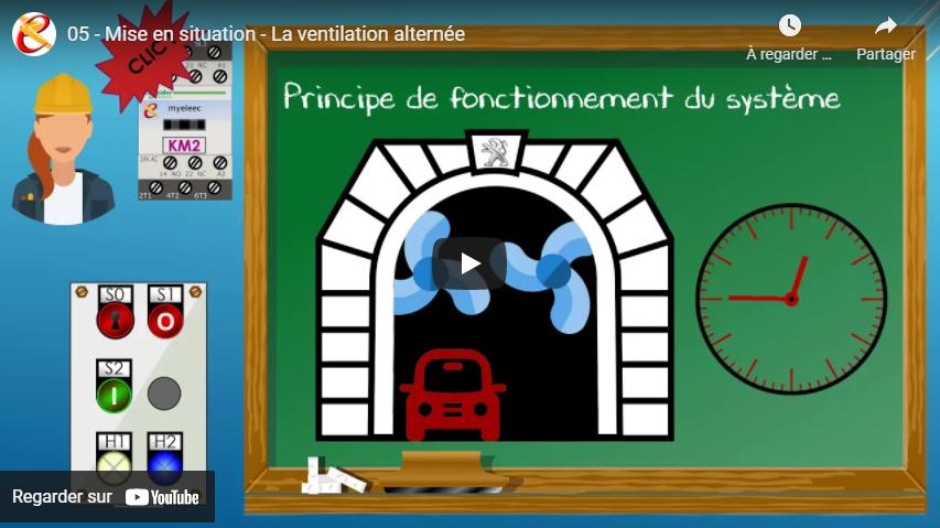 Vidéo de mise en situation pour le montage de la ventilation alternée